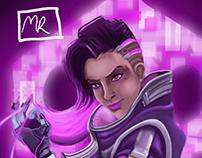 Overwatch - Sombra fan art digital painting