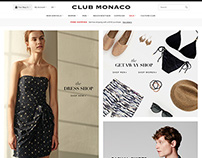 Club Monaco Homepage Design