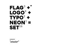 FLAG³+LOGO⁹+TYPE²+NEON¹=SET x Nizierski¹+Być Studio¹