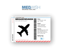 MedWish Brigade Reunion Invitation