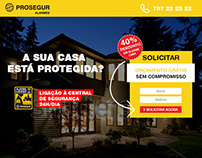Prosegur Alarmes Landing Page