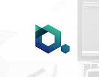 Blue Azurit logo design