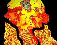 Ilustración Papercut - Krakatoa