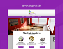 Interiors design web site