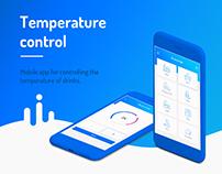 Mobile app for temperature control