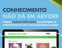 Anúncio lançamento do portal Academia Forth Jardim