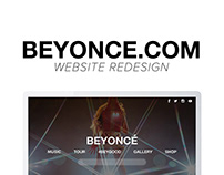 BEYONCE.COM Website Redesign