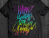 Lettering for T-shirt prints