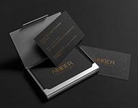 """""""AMBER Universal Security"""" vizitinės kortelės"""