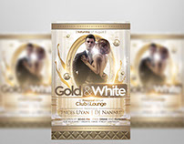 Gold And White Flyer Template
