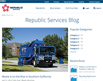 Republic Services Blog Design