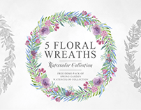 5 Free Breathtaking and Unique Floral Wreaths