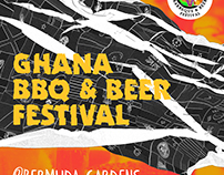 GHANA BBQ+BEER FESTIVAL POSTER - GRAPHIC DESIGN