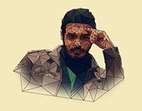 Karim Adam Polygonal Portrait