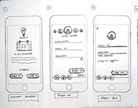Taskly - WireFrame Sketch for Mobile
