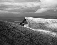 Brecon Beacons in black and white