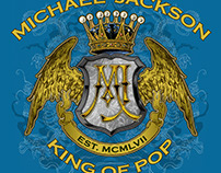 Michael Jackson -King of Pop Winged Shield T-shirt