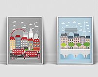 Illustrations — London & Paris