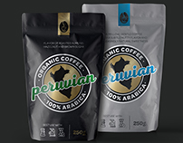 Peruvian coffee packaging