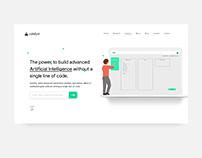 Minimal Web Design for AI Powered Saas Product