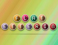 Flat lettering