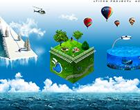 Creative banner advertising , travel agency.