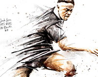 All Blacks Rugby Paintings