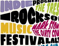 Poster festival alternative rock