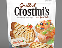 Grilled Crostini's pouch design