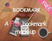 Free bookmark mockup by: Ziad El-Absy