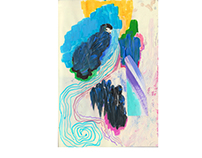 Magical Bird and a Blue Crystal