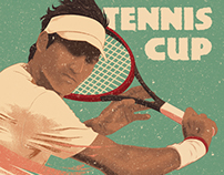 Tennis Match Flyer Poster Template