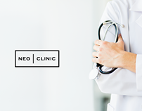 Neo Clinic logo, brand and corporate identity design