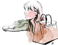 Jane Birkin, Hermes and the Aligator