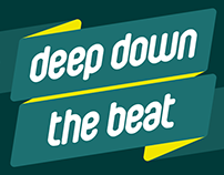 Deep Down the Beat - music program motion graphics
