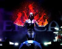 Fuego en el Teatro Diana.