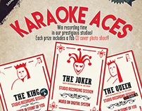 A5 Flyer for a karaoke competition