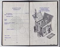old passport sketchbook