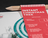 Instant Christmas Tree postcard