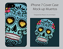 Iphone 7 Cover Case Mock-up Muertos