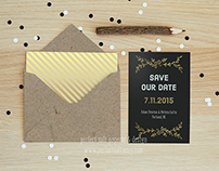 Foil-Pressed Save the Dates