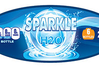 """Branding DrinkingWAater """" Sparkle H2O"""""""