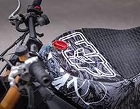 Stunt bike vinyl graphic