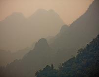 Mountains of Vang Viang Laos