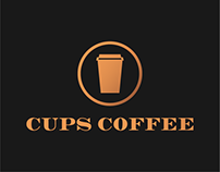Cups Coffee Logo and Visual Identity