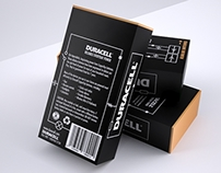 Duracell battery packaging (x4 C's)