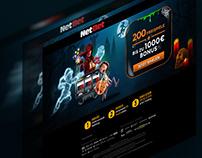 Landing page Halloween NetBet-DE