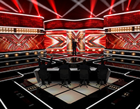 TV Set Design. The X factor russian concept
