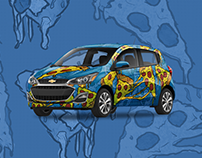 Pizza Slices Pattern & Wrap