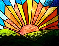 Stained Glass Sunburst